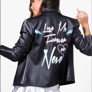 Boohoo Rosie Biker Jacket NWT